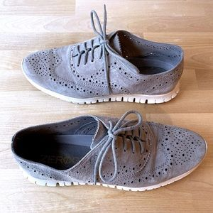 Women's Cole Haan Suede Wingtip Oxford Shoes Sz 8